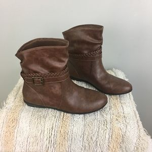 American Eagle Faux Leather Brown Booties